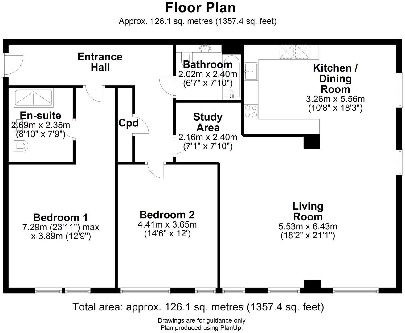 Floor plan 143 Hills Road, Cambridge